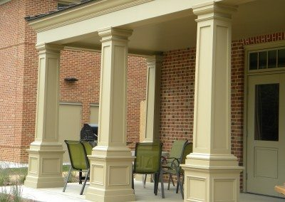 PVC Columns with Recessed Panel