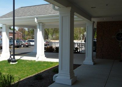 PVC Column with Recessed Panel