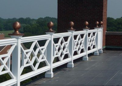 Rooftop PVC Railing System