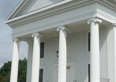 Fluted Fiberglass Column, PVC Trim