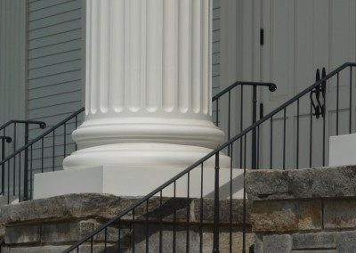 Fluted Fiberglass Column with Attic Base